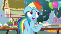 "Rainbow Dash ""made one of them disappear"" S7E23"