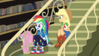 Rainbow Dash asks Fluttershy if she's okay CYOE2