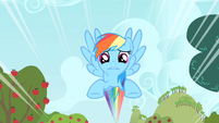 Rainbow Dash flying S1E25