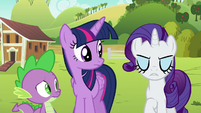 Rarity annoyed --then yes-- S6E10