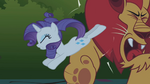 Rarity kicking the manticore S1E2