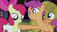 Scootaloo poke & smile S3E4