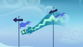 Sky Stinger zigzagging around the flagpoles S6E24.png