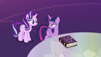 Twilight looking back at Starlight Glimmer S7E14