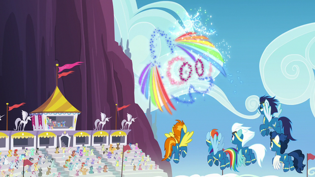 File:Wonderbolts see Rainbow Dash-shaped fireworks S7E7.png