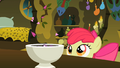 Apple Bloom looking at tiny petals entering the bowl S2E06.png