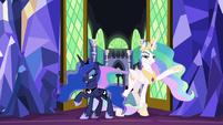 Celestia and Luna make dramatic entrance S9E13