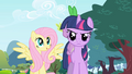 Fluttershy interested and Twilight annoyed S1E1.png