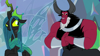 Lord Tirek pounding his fists S9E25