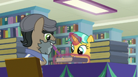 Martingale giving book to Citrine Spark S9E21