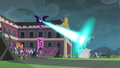 Midnight Sparkle destroying the Wondercolt statue EG3.png