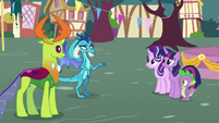 Princess Ember puzzled by pony friendship S7E15