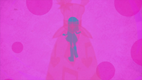 Rarity blue silhouette on pink background EG2