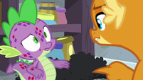 Spike puzzled by Smolder's words S8E11
