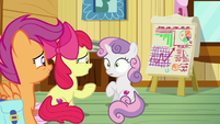 Sweetie Belle in wide-eyed surprise S9E22
