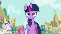 Twilight Sparkle walks through Ponyville S7E14