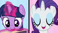 "Twilight and Rarity ""we're a work in progress"" S7E14"