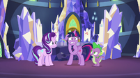 Twilight and Starlight nervous; Spike annoyed S7E10