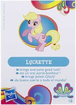 Wave 11 Luckette multilingual collector card