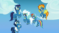 Wonderbolts surprised by sudden fireworks S7E7.png