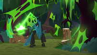 Chrysalis carving another log S9E1