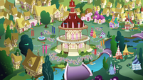 Crowd in Ponyville town square S4E16