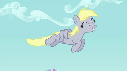 Derpy flying S4E26
