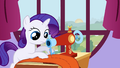 Filly Rarity working at a sewing machine S1E23.png