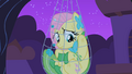 Fluttershy trapped in her trap close-up S1E26.png