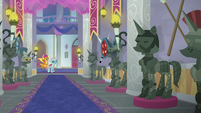 Hall of suits of armor in School of Friendship S8E15