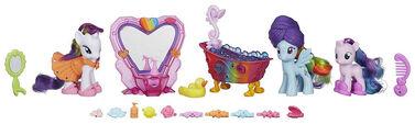 MLP Rainbow Dash & Rarity Spa Pony Set