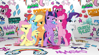 Mane Six group pose in Fresh Princess music video