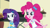 "Pinkie Pie ""our geodes will go all glowy"" EGDS5"