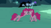 Pinkie Pie double looking towards Pinkie Pie S3E03