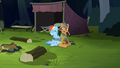 Quibble Pants laughing at henchponies S6E13.png
