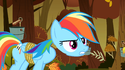 Rainbow Dash's detached head S1E13