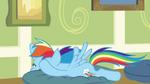 Rainbow Dash falls on pillow S2E16