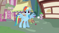 Rainbow Dash phew he's alright S3E11