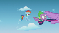 Rainbow Dash screeches to an air halt S5E25