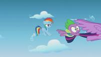 Rainbow Dash screeches to an air halt S5E25