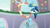 Rainbow Dash slowing her flight BGES1