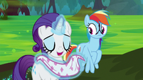 Rarity able to breathe again S8E17