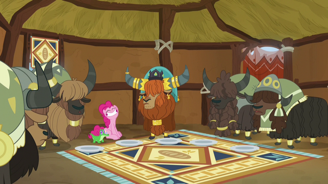 File:Rutherford and yaks impressed by Pinkie's appetite S7E11.png