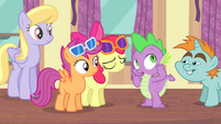 "Spike ""Rarity fell way behind"" S4E19"