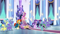 Spike and Crystal Hoof enter the throne room S6E16.png