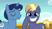 Star Tracker smiling with extreme giddiness S7E22