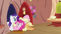 Twilight Sparkle's friends opening door S2E03