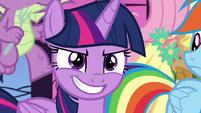 Twilight Sparkle with confident grin S9E13