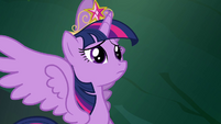 Twilight listening to Celestia in her mind S4E2