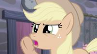 Applejack quietly says -cutie marks- S5E02